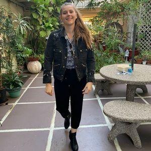Marc Jacobs Cropped Denim Distressed Jean Jacket